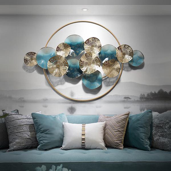 新中式铁艺壁挂墙面创意山水壁饰卧室客厅挂件轻奢装饰品立体墙饰