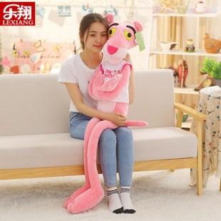 【母婴】正版粉红豹公仔顽皮豹毛绒玩具可爱布娃娃抱枕生日情人节礼物女生