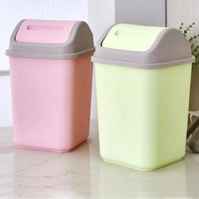 创意摇盖垃圾桶大号家用卫生间卧室客厅厨房塑料长方形垃圾筒纸篓