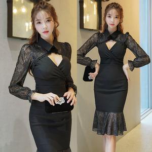 【高档女装】7339#新款韩版两件套名媛气质拼接蕾丝修身上衣...