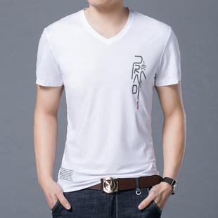 夏季新款男装青年男士韩版潮流T恤短袖大码体桖雅戈尔专柜同款