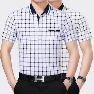 夏季新款男装短袖t恤中年男士宽松大码体恤男MZ0PLAYBOY0LILANG0