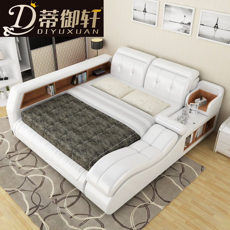 ti yu xuan tatami bed smart leather bed double bed 1 8 m. Black Bedroom Furniture Sets. Home Design Ideas