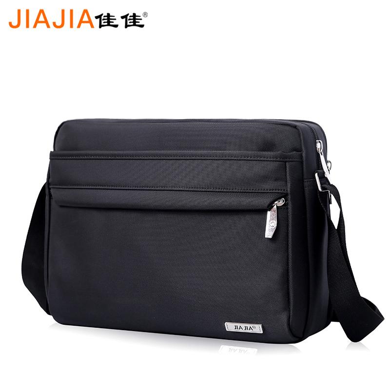 横款男士防水单肩斜挎12寸平板电脑包大容量韩版简约休闲单背挎包