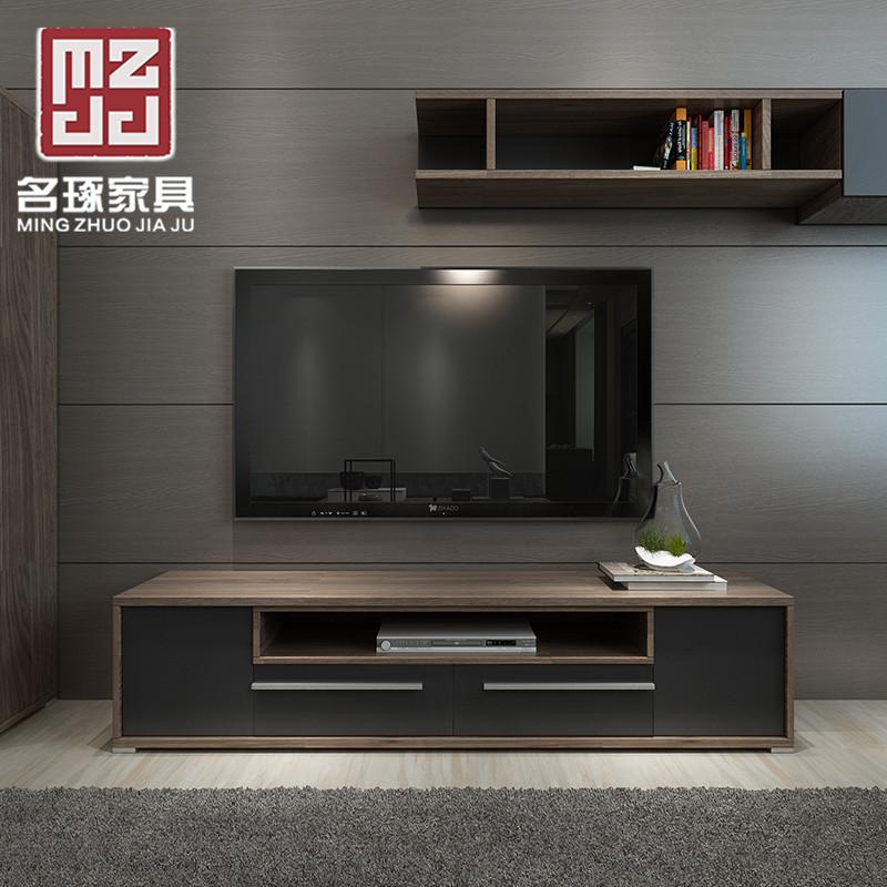 名琢 现代简约1.8米电视柜茶几组合套装小户型单地柜创意客厅家具