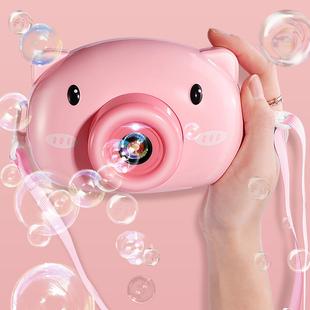 网红泡泡机儿童电动吹泡泡照相机玩具少女心ins小猪风车抖音同款