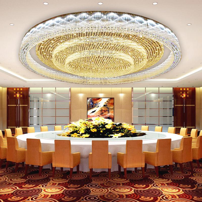 大型酒店水晶灯豪华别墅客厅灯宾馆会所宴会厅大堂非标工程灯定制