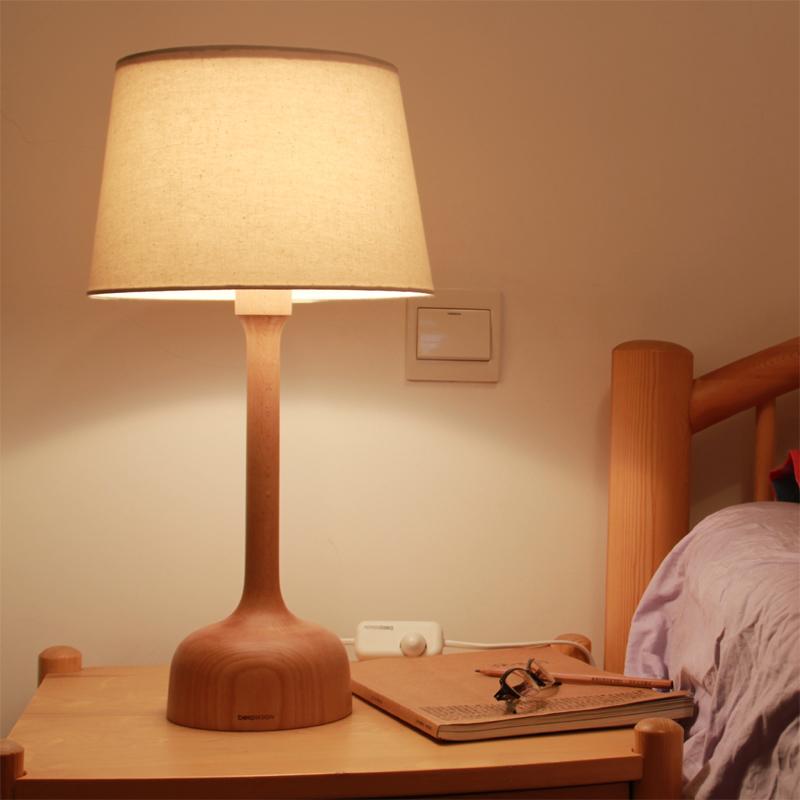本来设计beladesign木质台灯实木卧室床头灯 时图片