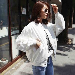 韩国蝙蝠袖宽松短外套女立领春秋学生短款棒球服飞行员夹克女装潮