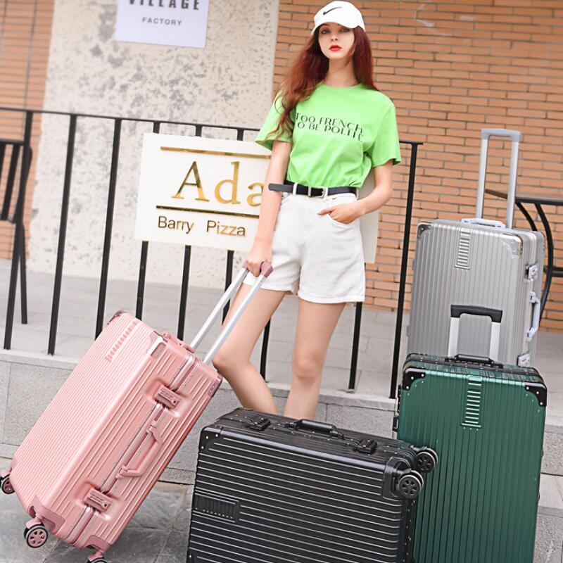 行李箱女铝框网红ins拉杆箱男潮20小型学生24密码旅行皮箱子28寸