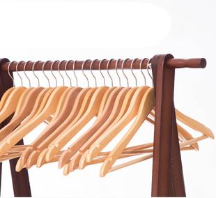 【拍多件更优惠】四喜家用实木衣架