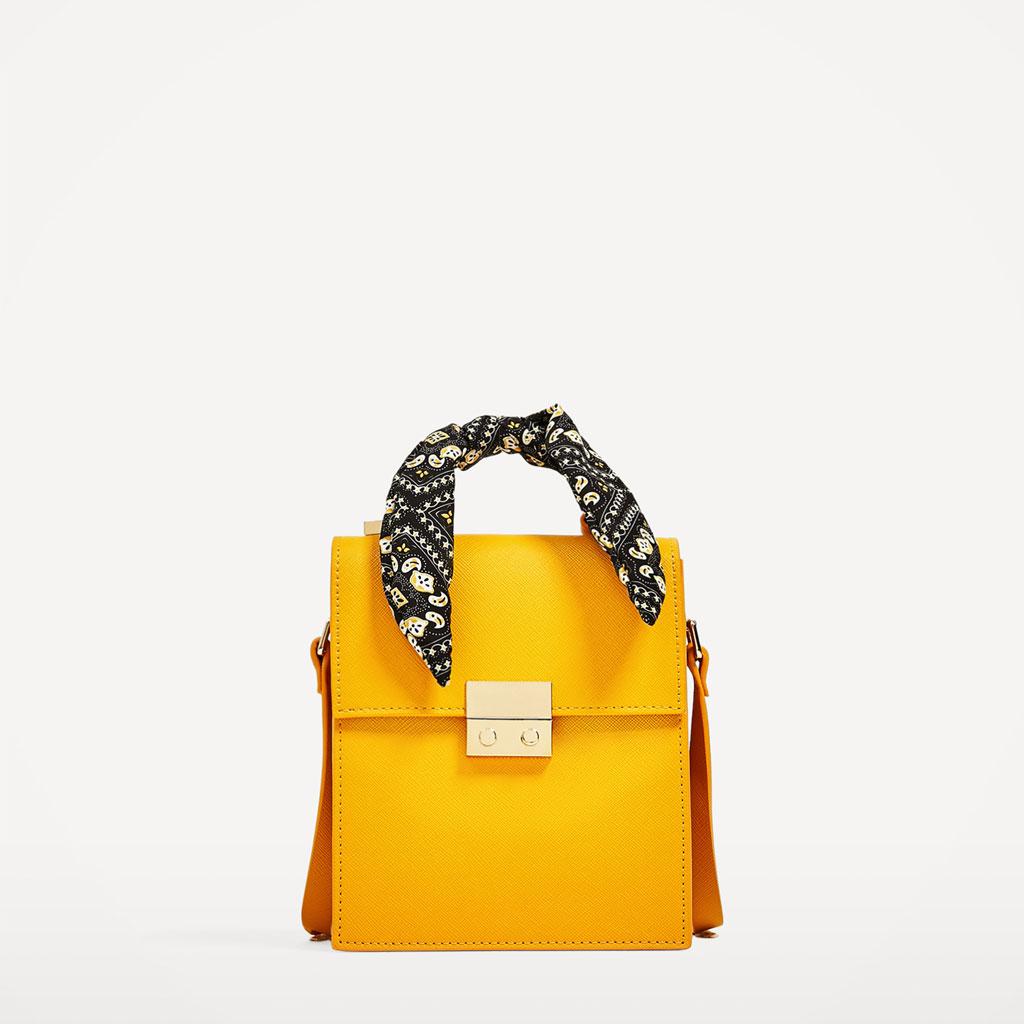 2017春夏新款女包丝巾装饰都市休闲包单肩斜挎包时尚百搭手提包包
