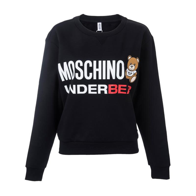Moschino-莫斯奇诺M17109004女士加绒小熊LOGO卫衣18年秋冬新款