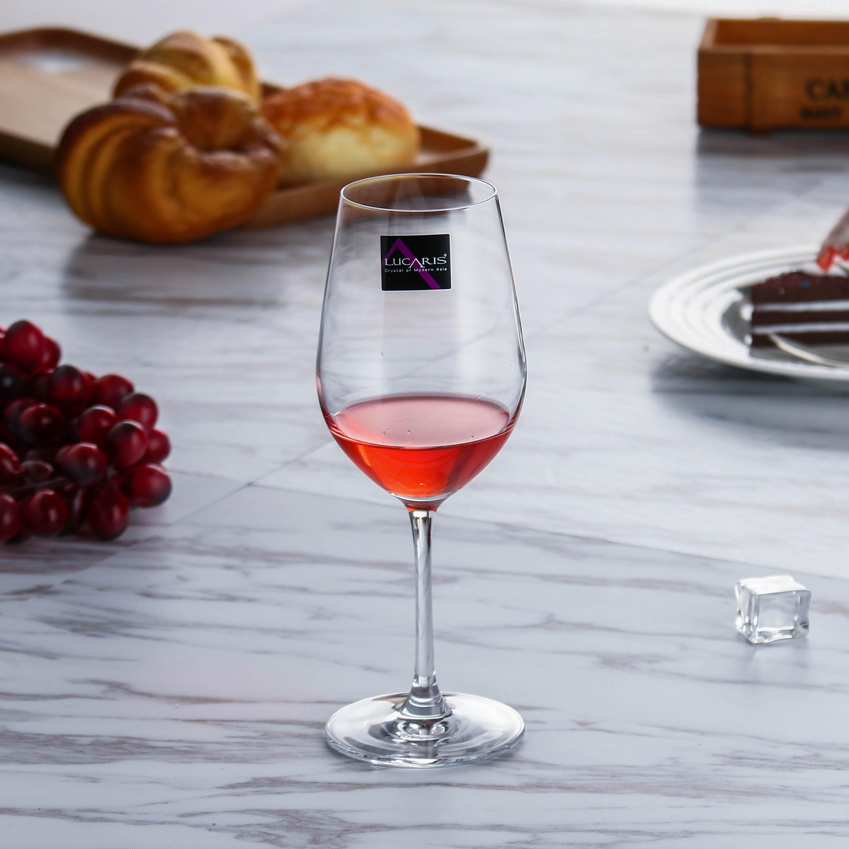 lucaris进酒杯水晶酒杯家用酒器杯架杯子醒高脚葡萄视频口红6只生产设备排钉气套装图片