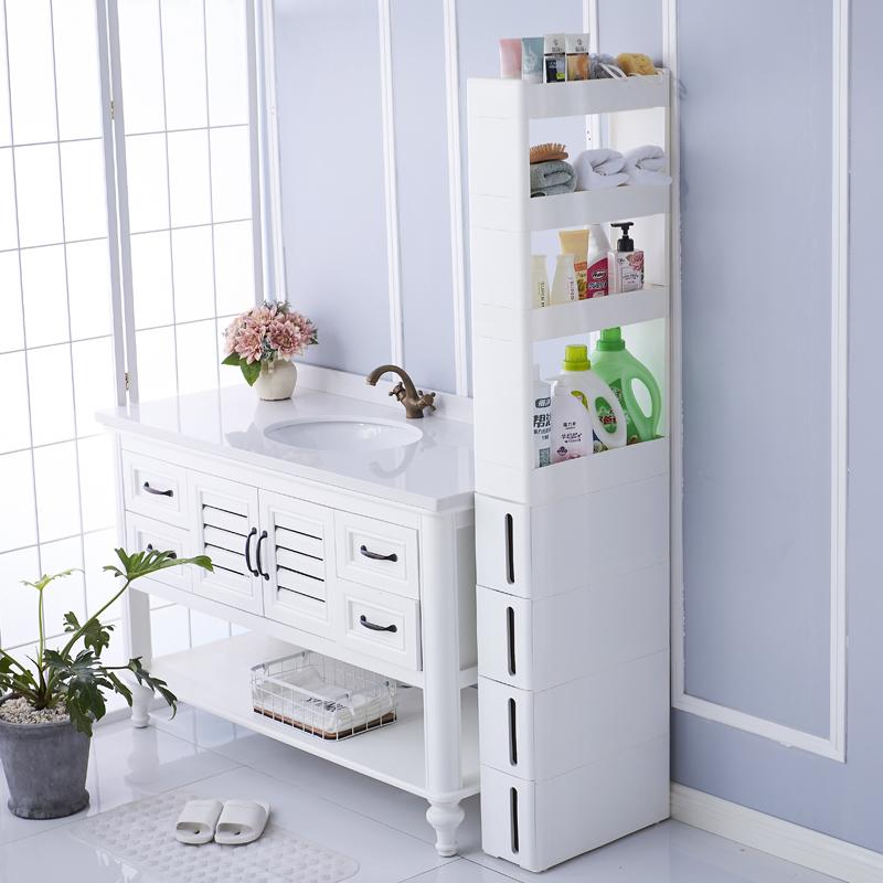 厨房缝隙收纳置物架冰箱卫生间窄缝收纳夹柜调料架塑料隙间整理架