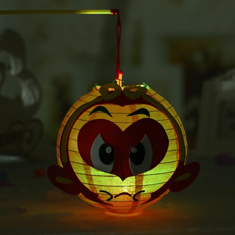 diy卡通灯笼动物材料包儿童灯笼幼儿园创意手工手提纸灯笼中秋节图片