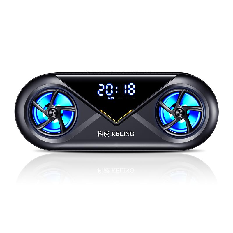 科凌无线蓝牙音箱双喇叭大音量3D环绕家用闹钟小型迷你音响手机超重低音炮便携式户外车载收款收钱语音播报器