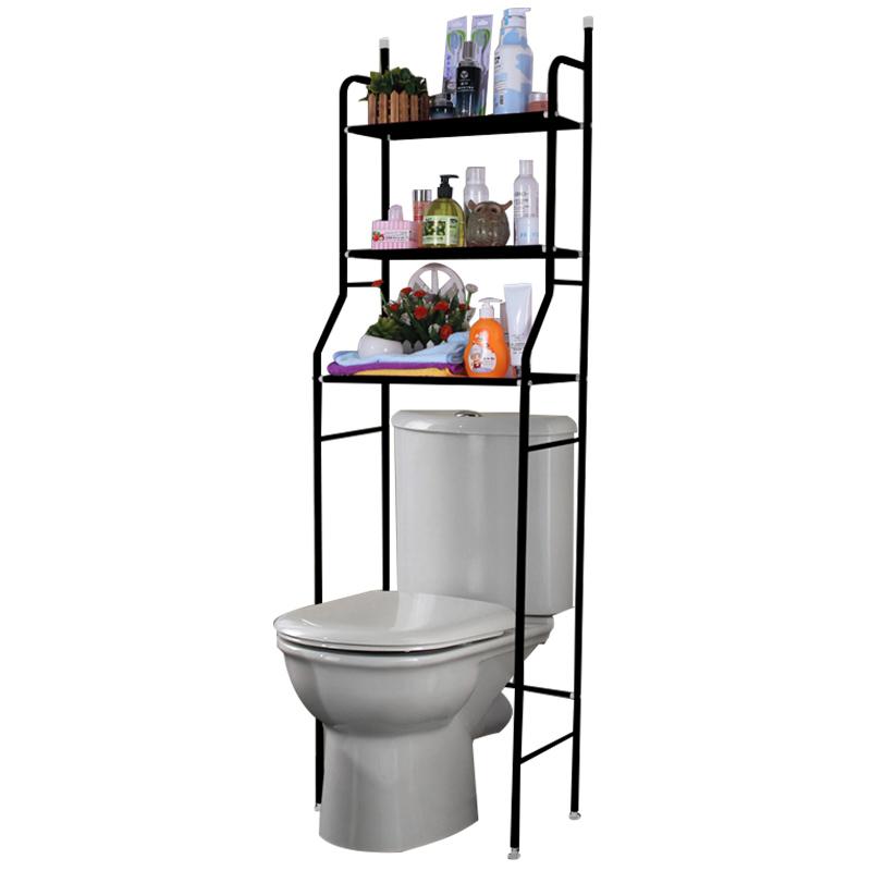 妙妻马桶置物架浴室收纳架落地多层洗衣机架子免打孔卫生间储物架
