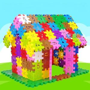 儿童塑料方块数字拼插积木男孩4岁 宝宝益智拼装女孩玩具3-6周岁
