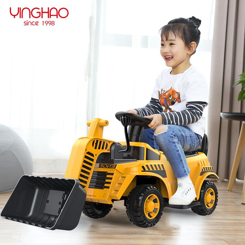 儿童推土机工程车男女孩玩具车可坐人超大号可骑压路机电动挖掘机