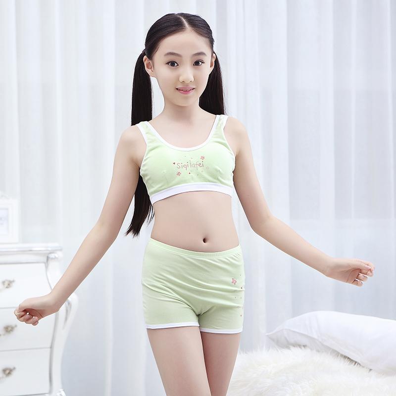 Girls Development Tube Top Children's Bra Small Girl Underwear Small Vest Student Bra Brassiere.