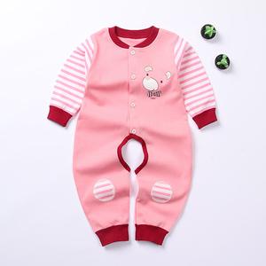 婴儿连体衣服春夏短袖纯棉男女宝宝新生儿哈衣开裆爬爬服夏装睡衣