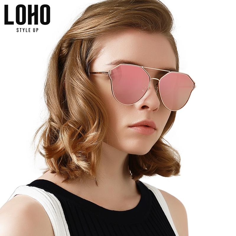 LOHO偏光太阳镜女2018新款时尚网红眼镜韩版个性猫眼墨镜女LHK009