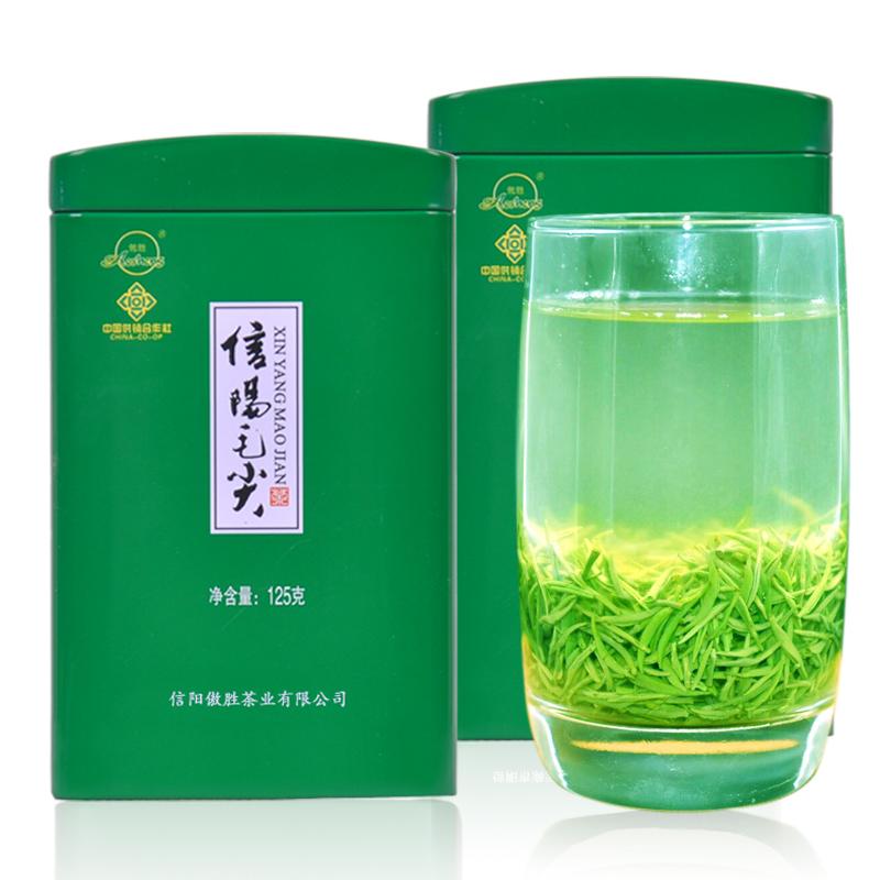 信阳毛尖2018新茶明前特级毛尖茶叶春茶嫩芽 绿茶浓香型散装500g