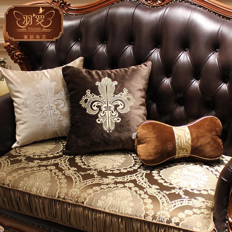 欧式绣花沙发抱枕靠刺绣枕套