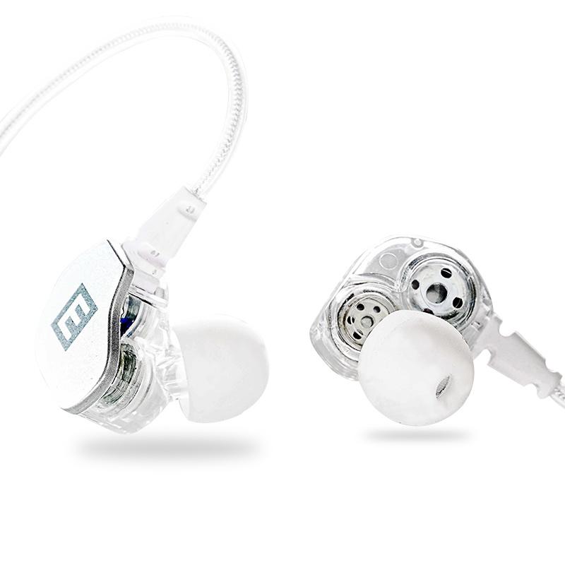首望 E5双动圈手机通用HIFI运动耳塞入耳式k歌有线控耳机重低音炮