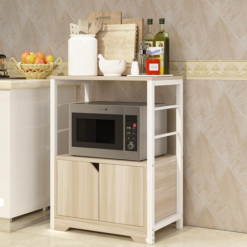 厨房置物架多层落地收纳架厨具多功能储物架微波炉烤箱放锅调料架