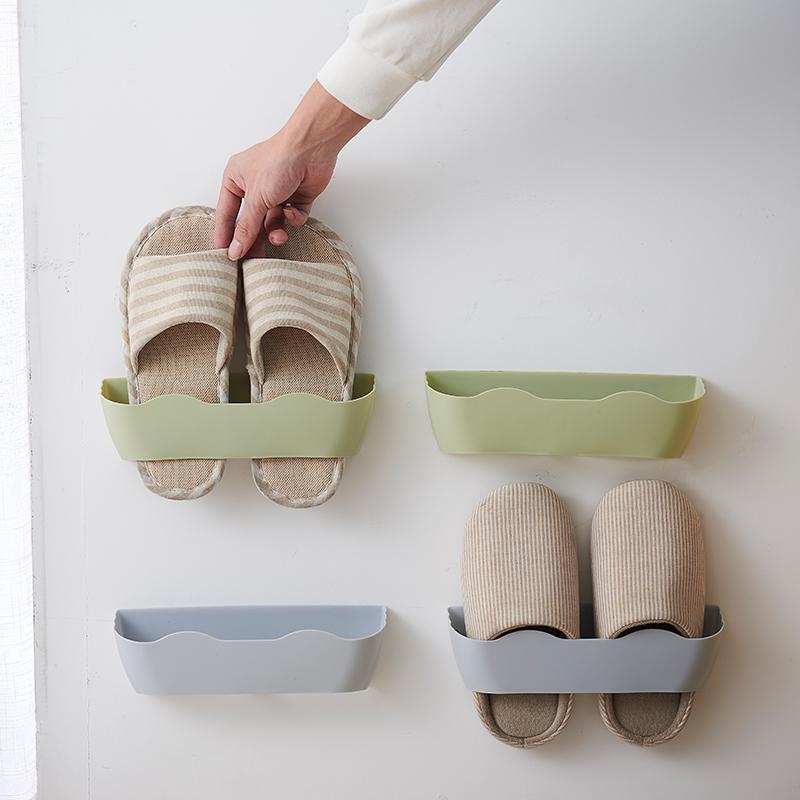 浴室拖鞋架墙壁挂式免打孔卫生间鞋架收纳省空间放鞋子利器鞋托器