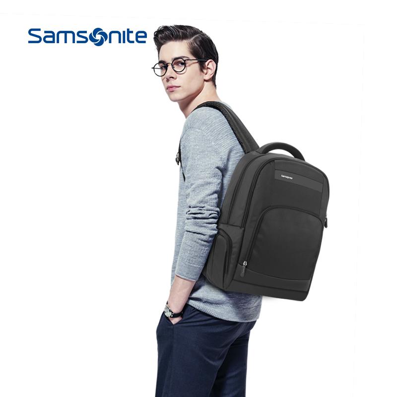 Samsonite/新秀丽时尚休闲双肩包男高端商务背包轻潮电脑包36B10