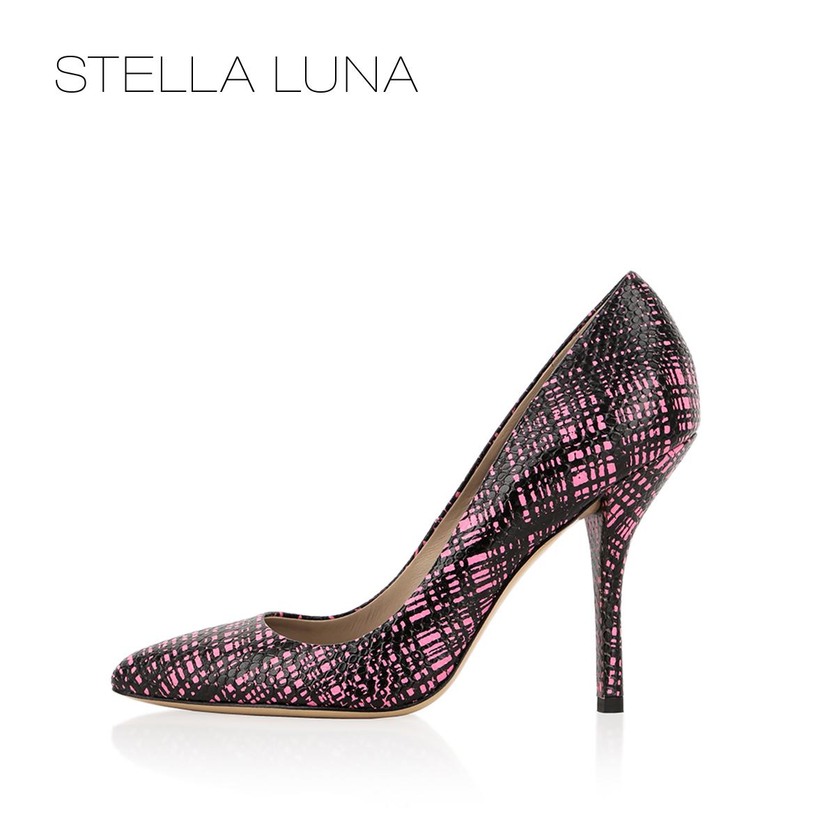 STELLA LUNA女鞋春夏时尚细跟鞋子女牛皮尖头超高跟鞋SF133L01013