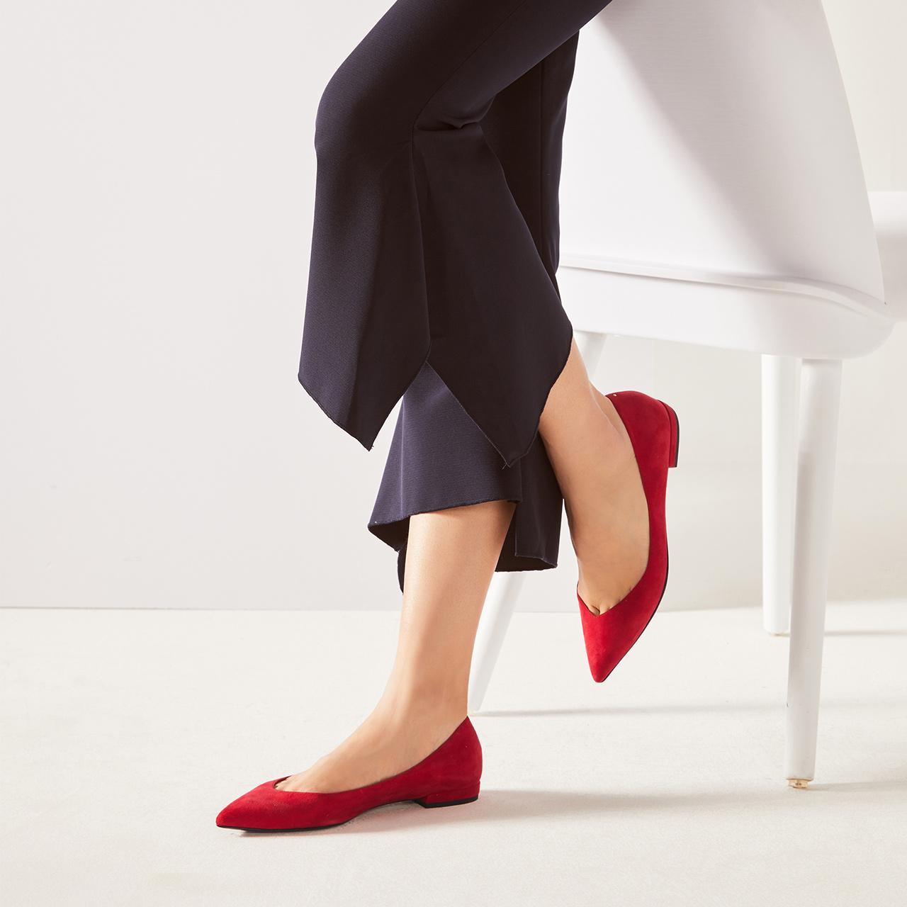 STELLA LUNA秋季尖头平跟女士单鞋 SH334C24105