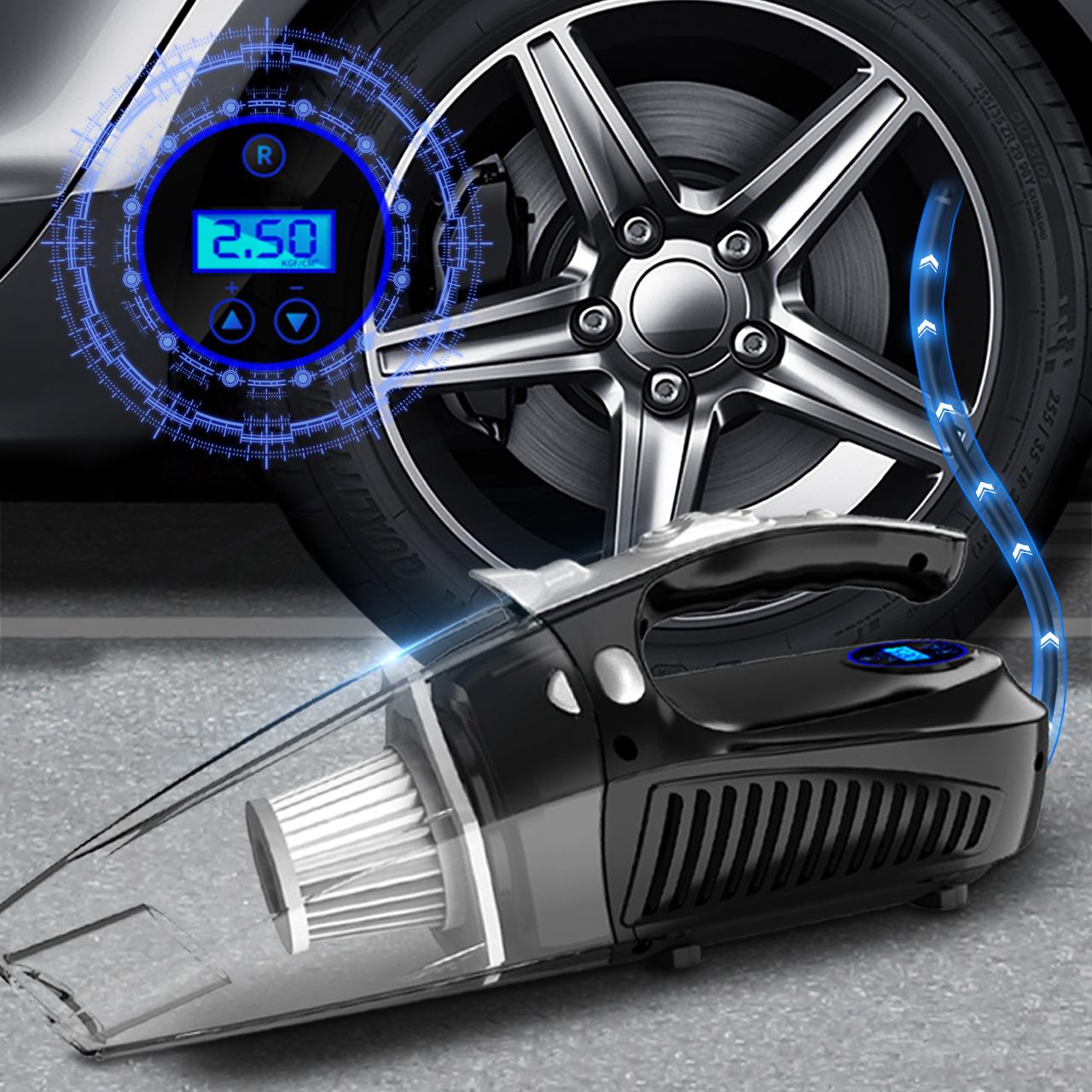 车载吸尘器车用家用干湿两用强力专用四合一大功率汽车车载充气泵