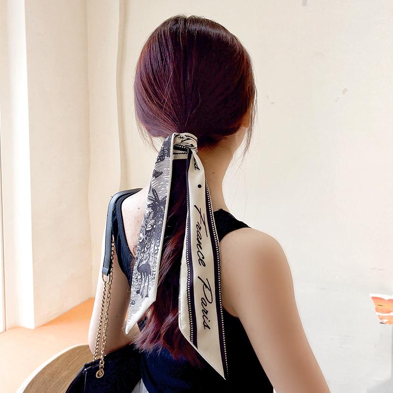 丝巾发带女绑发丝带头饰复古法式飘带头巾