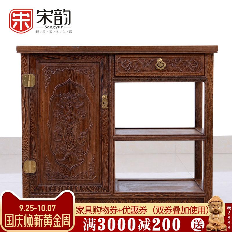 红木家具中式实木餐边柜鸡翅木茶水柜边柜茶柜柜子储物柜厨房厨柜
