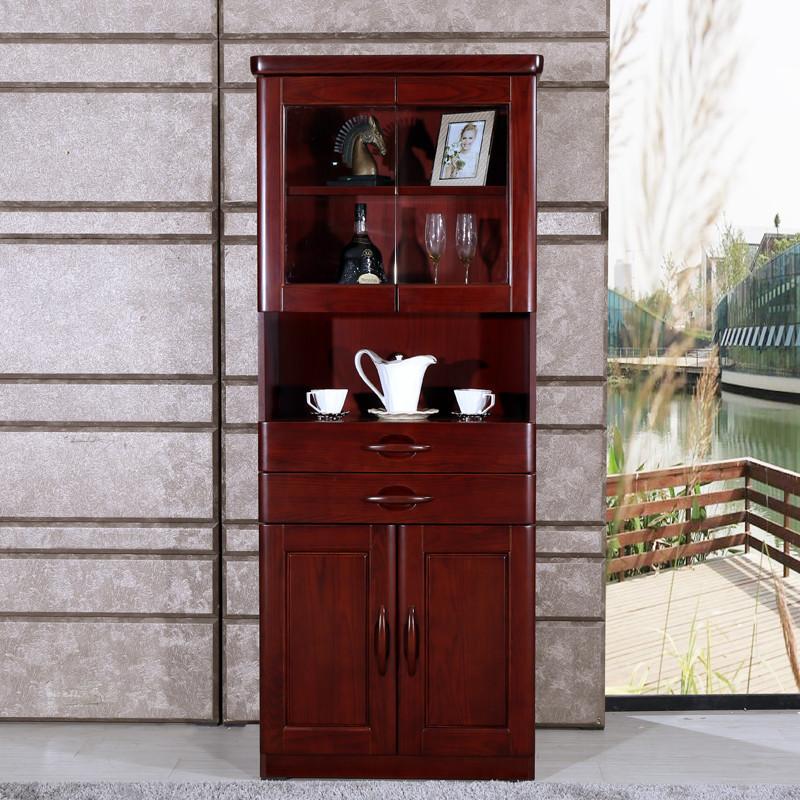 顺心家具新中式水曲柳酒柜厅柜门厅柜餐边柜高酒柜实木客厅柜促销
