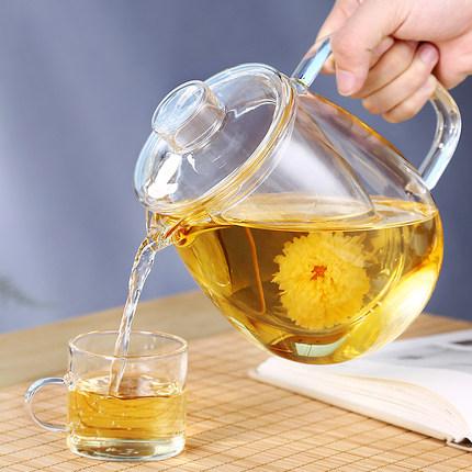 玻璃大号泡茶壶透明飘逸花茶过滤家用冲茶泡茶杯器大容量功夫套装