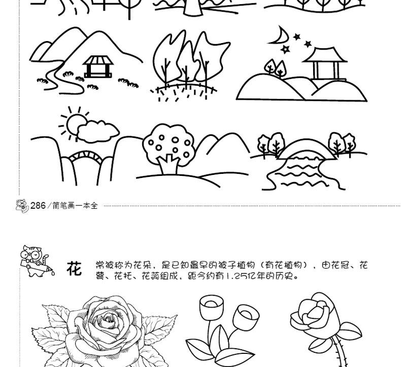 儿童画画书简笔画一本全3-6-9-12岁儿童简笔画大全5000例入门书 幼儿