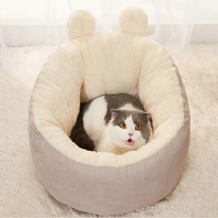网红猫窝四季通用软垫子可拆洗封闭式深度睡眠冬季保暖可爱猫咪窝