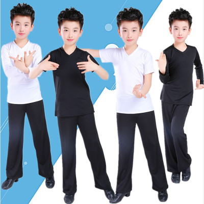 Boys Latin Dance Training Gongfu Boys National Dance Body Apparel Children Latin Training Apparel Children Dance Apparel