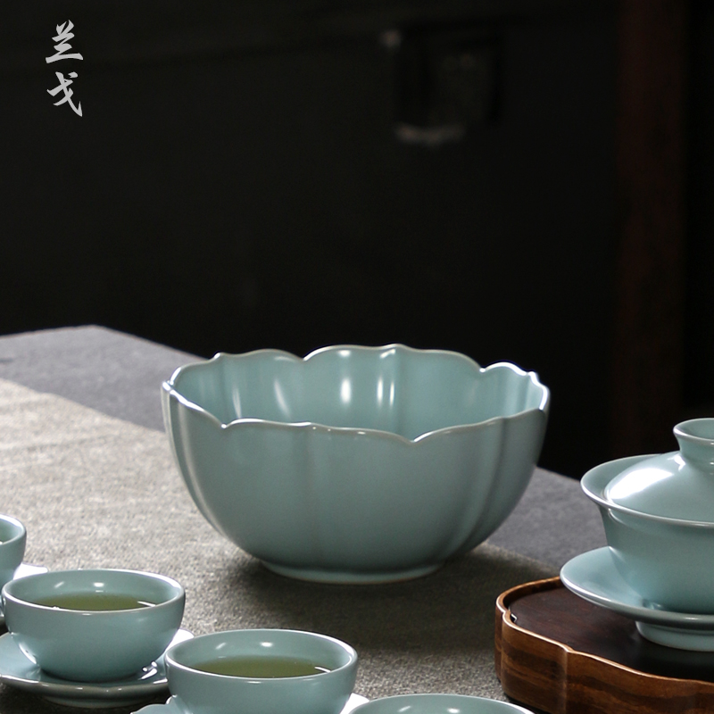 Your up day oolong tea wash Your ceramic tea set suits for home on Your porcelain cup writing brush washer water jar cup tea accessories