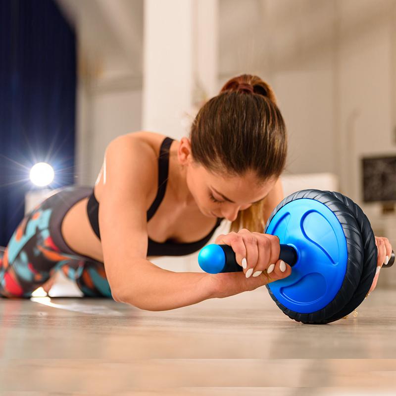 练腹肌健身器材家用健腹轮男士腹肌轮女健身轮滚轮锻炼器材卷腹轮