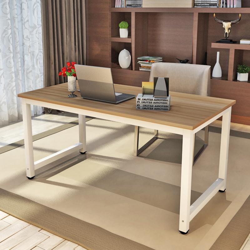 2平米 包邮简约书桌简易电脑桌台式时尚办公桌双人写字桌台式家用可定制