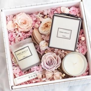 进口精油无烟安神香氛香薰蜡烛杯大豆蜡卧室新婚礼物礼盒净化空气
