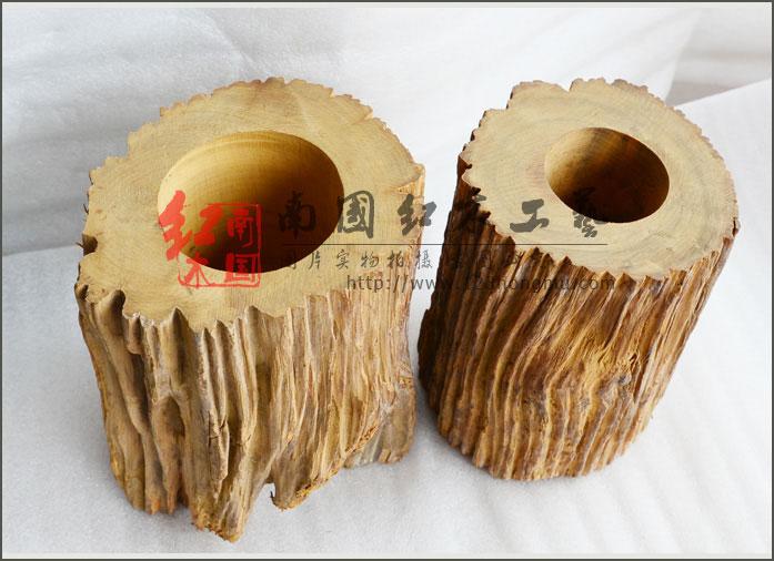 香木树根笔筒,越南香木雕刻笔筒 (原生态无漆无腊)