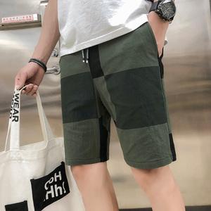 AG棉麻短裤男潮流夏天5五分裤休闲宽松夏季男士马裤子