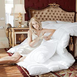 羽绒被正品冬被全棉被芯加厚保暖单双人床羽绒被子白鹅绒被